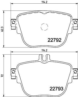 Mercedes-Benz Genuine Brake Pads 0004206200-فحمات خلفي