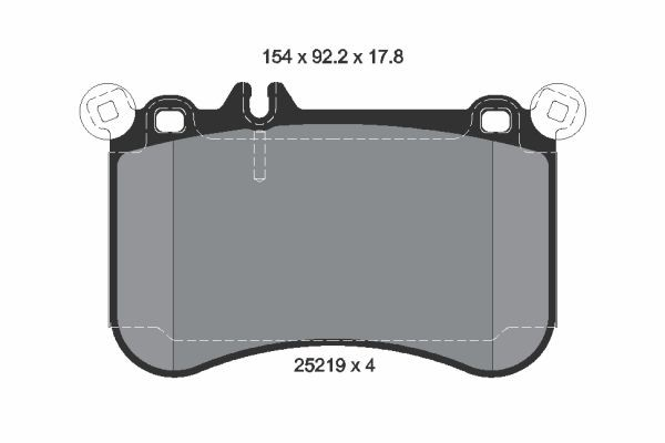 Mercedes-Benz Genuine Brake Pads 0074209920-فحمات فرامل